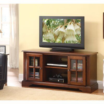 """Red Barrel Studio Sisler Tv Stand, Cherry For Flat Screens Within Most Popular Leonid Tv Stands For Tvs Up To 50"""" (View 6 of 15)"""