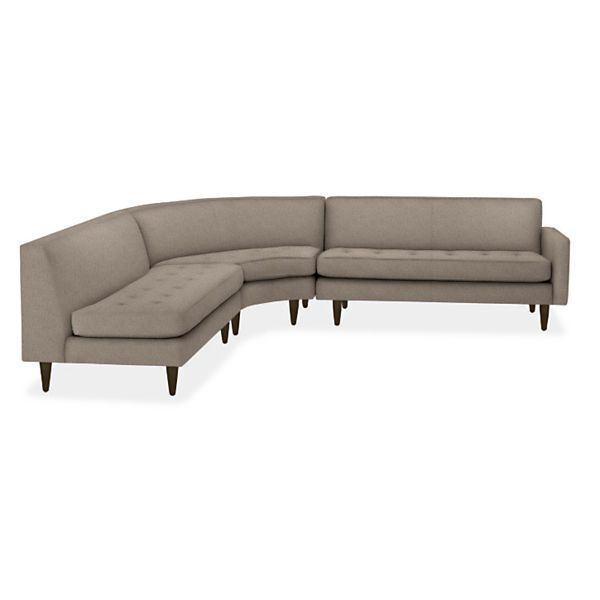 Reese Curved Sectionals – Modern Sectionals – Modern Throughout Room And Board Sectional Sofas (View 10 of 15)