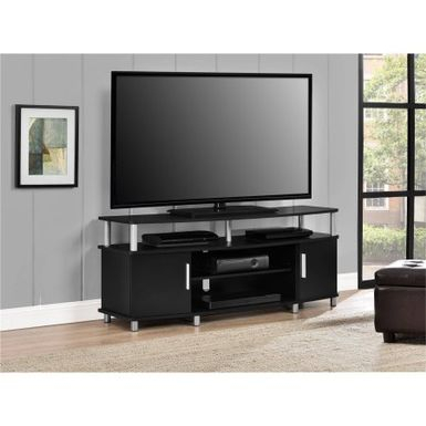 Rent To Own Ameriwood Home Carson Tv Stand For Tvs Up To Regarding Favorite Bromley Black Wide Tv Stands (View 1 of 15)