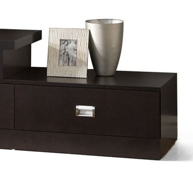 Rent To Own Contemporary Dark Brown Wood Tv Stand Regarding Most Popular Dark Wood Tv Stands (View 11 of 15)