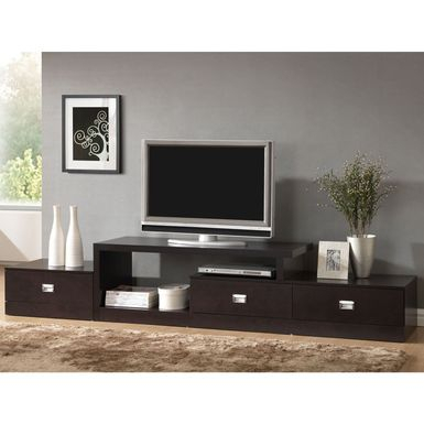 Rent To Own Contemporary Dark Brown Wood Tv Stand With Trendy Dark Wood Tv Stands (View 2 of 15)