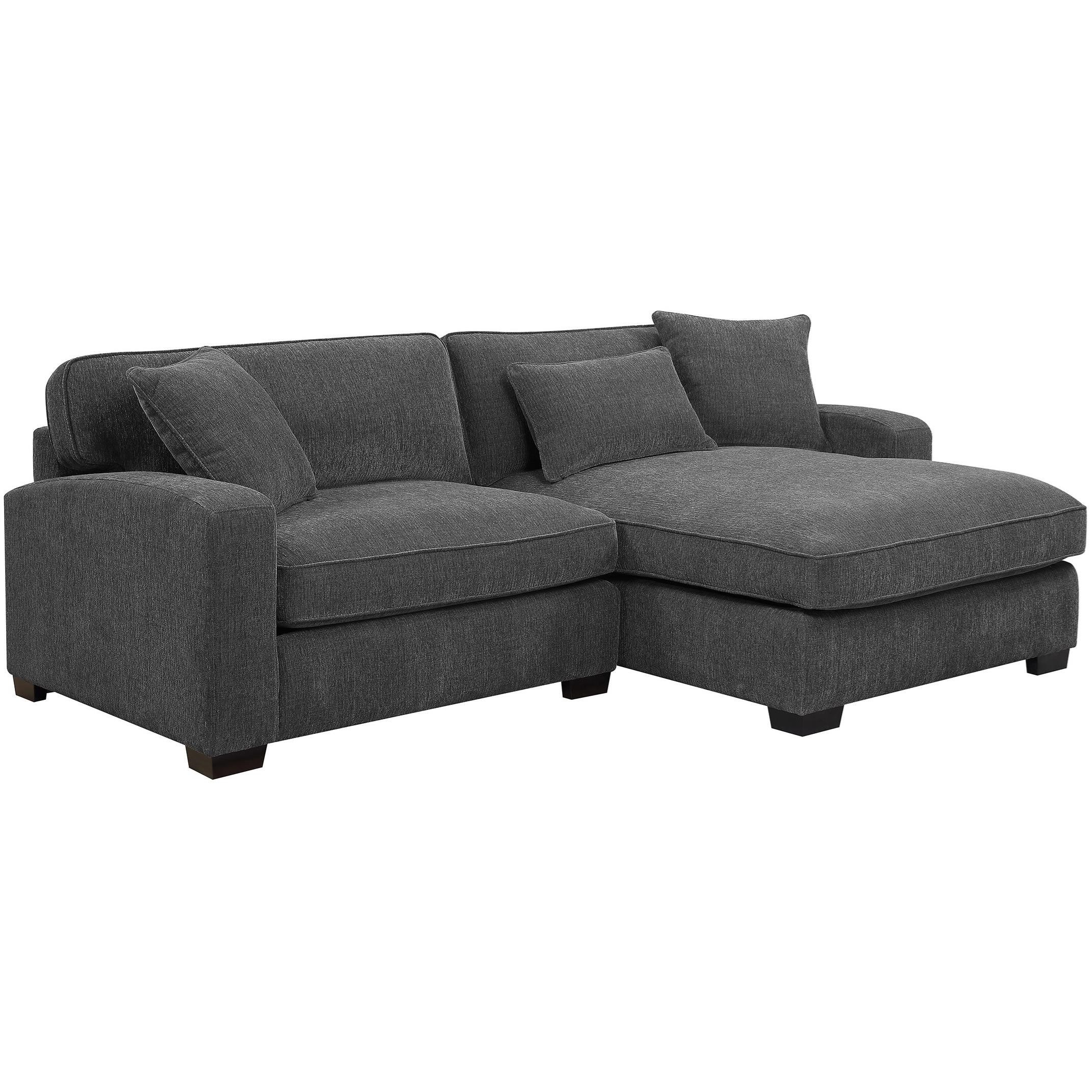 Repose Casual Two Piece Sectional Sofa With Raf Chaise And Intended For Evan 2 Piece Sectionals With Raf Chaise (View 8 of 15)