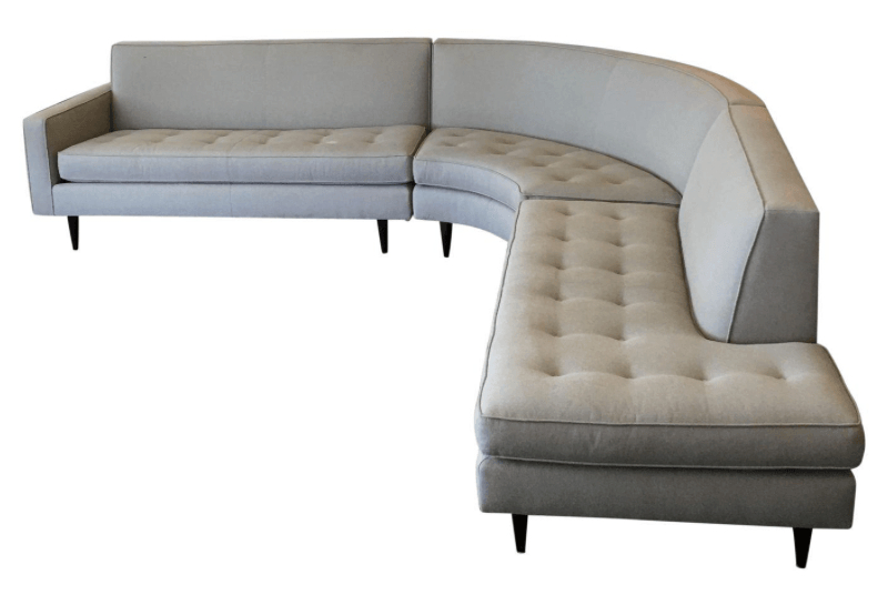 Room And Board Reese Curved Retro Style Sectional Sofa In Room And Board Sectional Sofas (View 11 of 15)