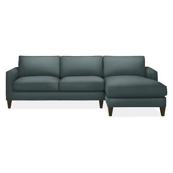 """Room & Board – Harrison 104"""" Sofa With Right Arm Chaise Intended For Room And Board Sectional Sofas (View 14 of 15)"""