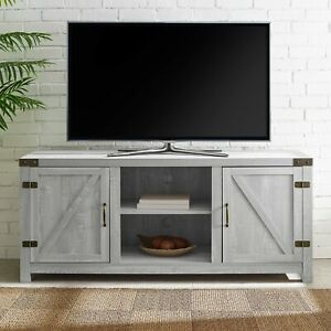 Rustic Stone Gray Entertainment Center 65 Inch Tv Stand Regarding Well Known Dark Brown Tv Cabinets With 2 Sliding Doors And Drawer (View 3 of 15)