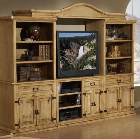 Rustic Western Pine Entertainment Center With Twisted Inside 2018 Rustic Country Tv Stands In Weathered Pine Finish (View 8 of 15)