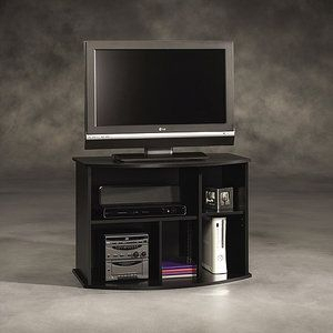 """Sauder Beginnings Black Tv Stand, For Tvs Up To 35""""—65 With Regard To Preferred Valenti Tv Stands For Tvs Up To 65"""" (View 8 of 15)"""