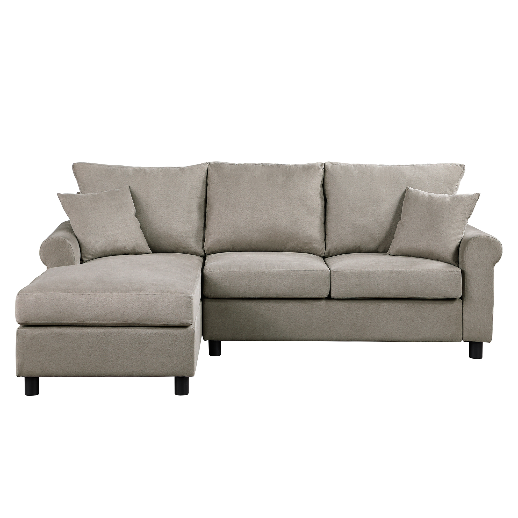 Sectional Sofa, Segmart 35'' X 85'' X 61'' Tufted Throughout Verona Mid Century Reversible Sectional Sofas (View 8 of 15)