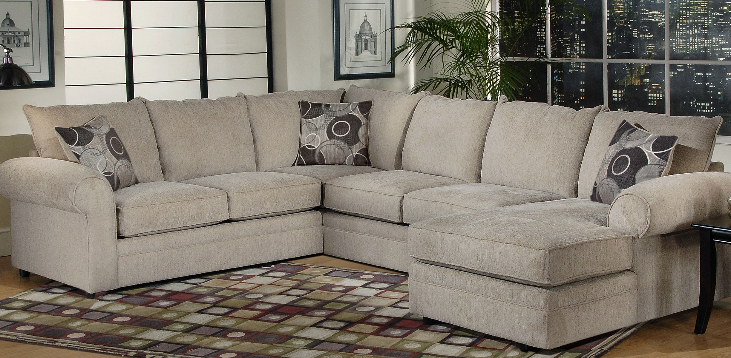 Serta Upholstery Sectionals: Ashas Spiritual Essence Throughout Harmon Roll Arm Sectional Sofas (View 1 of 15)