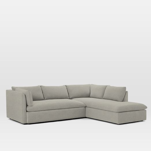 Shelter Set 1  Left Arm Sofa, Right Arm Terminal Chaise Inside Dulce Right Sectional Sofas Twill Stone (View 14 of 15)