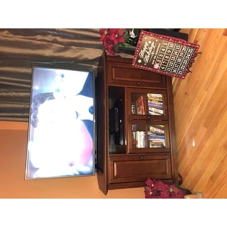 """Shop Alexandria 48"""" Corner Tv Stand In Vintage Mahogany Within 2018 French Country Tv Stands (View 2 of 15)"""