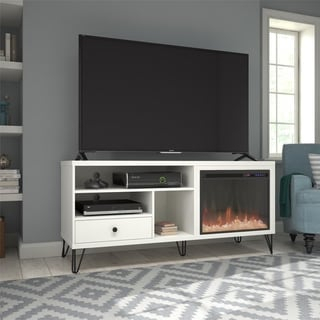 """Shop Ameriwood Home Vaughn Fireplace Tv Console For Tvs Up Regarding Current Ameriwood Home Rhea Tv Stands For Tvs Up To 70"""" In Black Oak (View 15 of 15)"""
