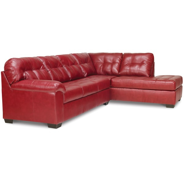 Shop Art Van Soho 2 Piece Sleeper Sectional In Red With Regard To Cromwell Modular Sectional Sofas (View 2 of 15)