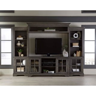 Shop Blinton Farmhouse 4 Piece Entertainment Center With In Best And Newest Lancaster Large Tv Stands (View 10 of 15)