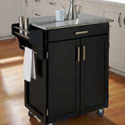 Shop Contemporary Kitchen Islands & Carts On Houzz Within Newest Modern Mobile Rolling Tv Stands With Metal Shelf Black Finish (View 8 of 15)