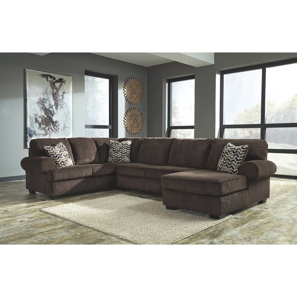 Shop Jinllingsly 3 Piece Sectional With Right Facing Throughout Norfolk Grey 3 Piece Sectionals With Laf Chaise (View 14 of 15)