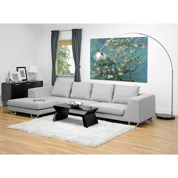 Shop Metropolitan Large Grey Sectional Sofa With Chaise Pertaining To Sectional Sofas With Oversized Ottoman (View 14 of 15)