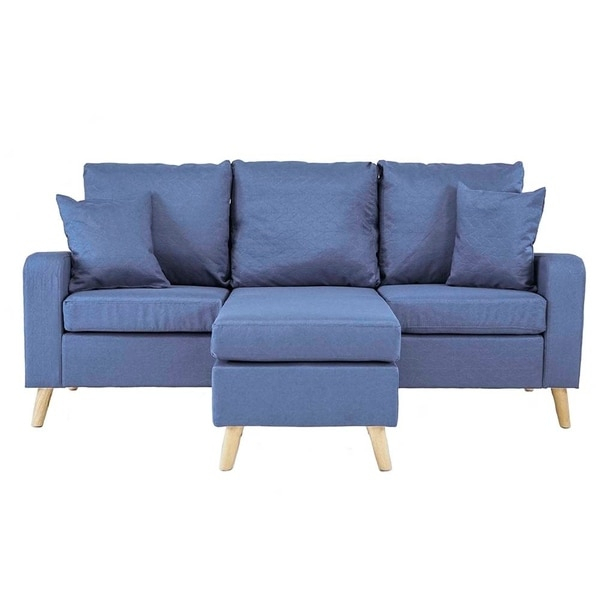 Shop Mid Century Style Small Space Reversible L Shape Within Verona Mid Century Reversible Sectional Sofas (View 12 of 15)