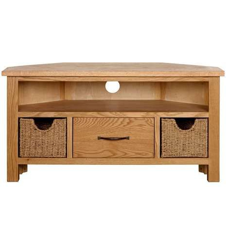 Sidmouth Oak Corner Tv Stand (View 3 of 15)