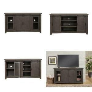 """Sierra Gray Metal Tv Stand Fits Tvs Up To 70 In In Most Up To Date Ameriwood Home Rhea Tv Stands For Tvs Up To 70"""" In Black Oak (View 2 of 15)"""
