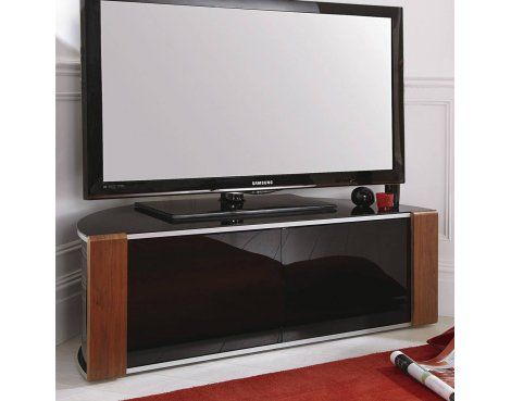 """Sirius 1200 Corner Tv Cabinet Unit For Up To 60"""" Inch With Popular Corner Tv Cabinets With Glass Doors (View 9 of 15)"""