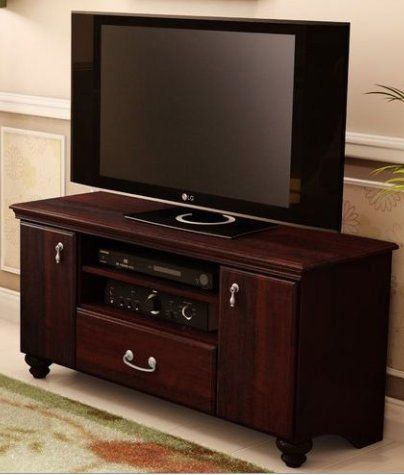 Skb Family 48 Inch Eco Friendly Tv Stand In Dark Mahogany For Most Current Mahogany Tv Stands (View 5 of 15)