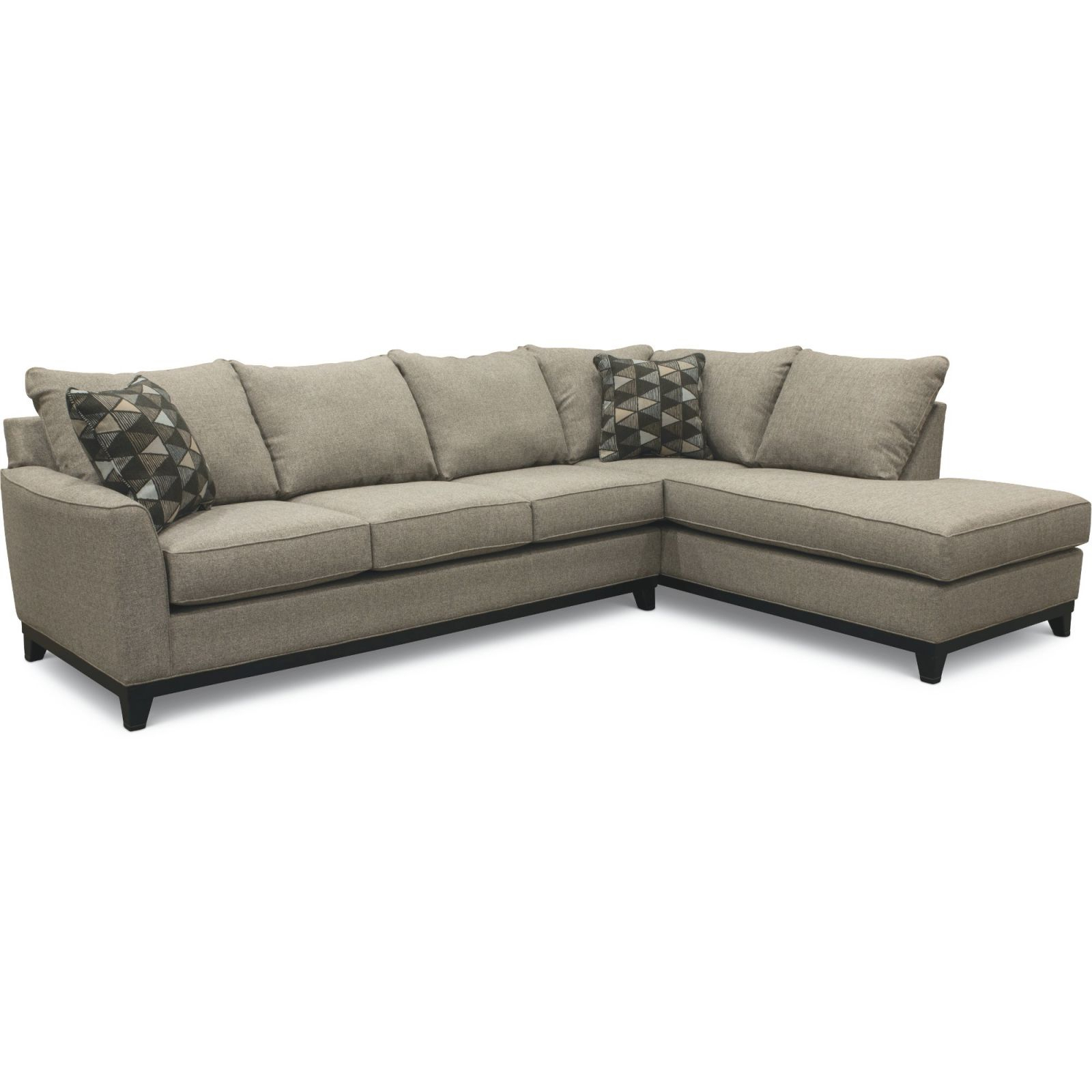 Slate Gray 2 Piece Sectional Sofa With Raf Chaise In Avery 2 Piece Sectionals With Raf Armless Chaise (View 13 of 15)