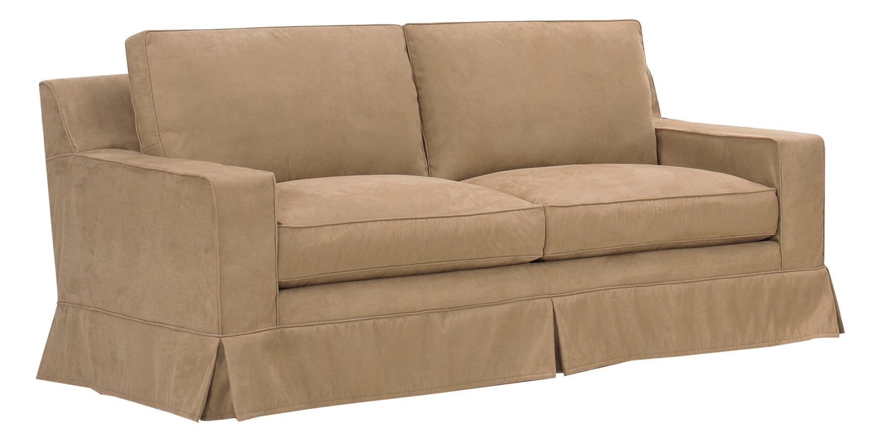 Slipcover Sleeper Sofa With Down Filled Couch Cushions With Regard To Down Filled Sofas (View 9 of 15)