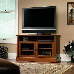 Smart Tv Stand Rustic Entertainment Center Cherry Wood In Popular Single Shelf Tv Stands (View 15 of 15)