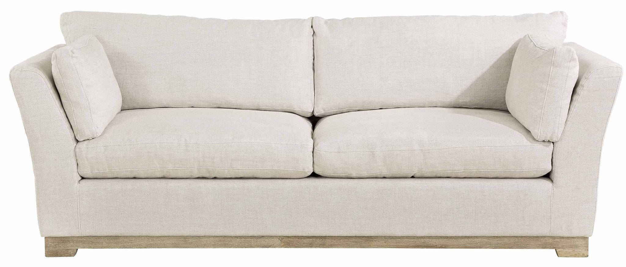 Soho 3 Seater Sofa – Linensand | Artwood Within Cromwell Modular Sectional Sofas (View 3 of 15)