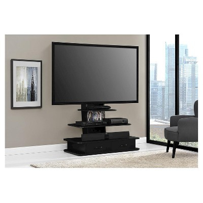 """Solar Tv Stand For Tvs Up To 70"""" With Mount And Drawers Intended For Most Recently Released Black Tv Cabinets With Drawers (View 12 of 15)"""