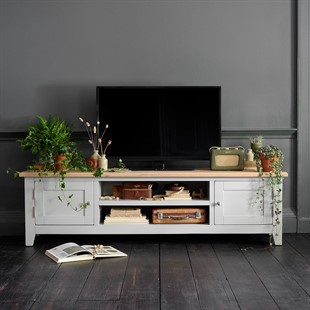 Solid Wood Oak, Pine & Painted Tv Stands & Tv Units – The Intended For Most Current Cotswold Widescreen Tv Unit Stands (View 5 of 15)