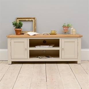 Solid Wood Oak, Pine & Painted Tv Stands & Tv Units – The Throughout Trendy Sherbourne Oak Corner Tv Stands (View 6 of 14)