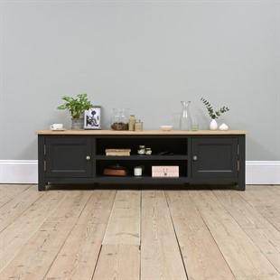 Solid Wood Oak, Pine & Painted Tv Stands & Tv Units – The With Regard To Newest Compton Ivory Extra Wide Tv Stands (View 15 of 15)