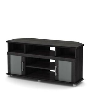 """South Shore City Life 47"""" Corner Tv Stand In Gray Oak Throughout Widely Used Delphi Grey Tv Stands (View 7 of 15)"""