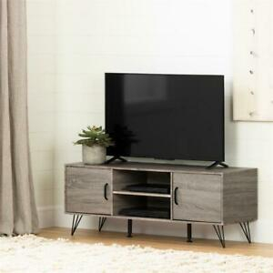 South Shore Evane Tv Stand With Doors 55In In Oak Camel Regarding Trendy South Shore Evane Tv Stands With Doors In Oak Camel (View 4 of 15)