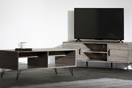 South Shore Evane Tv Stand With Doors For Tvs Up To 55 In 2017 South Shore Evane Tv Stands With Doors In Oak Camel (View 6 of 15)