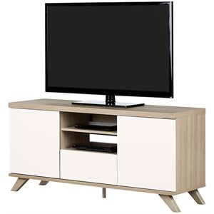 South Shore Tv Stand, South Shore Furniture Tv Stand For Well Known South Shore Evane Tv Stands With Doors In Oak Camel (View 11 of 15)
