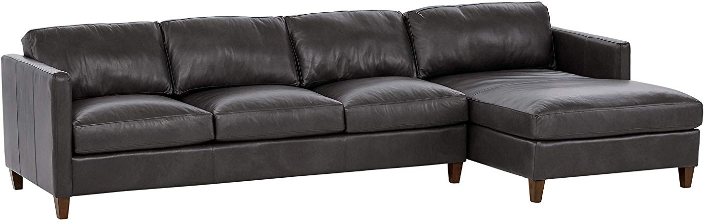 """Stone Beam Andover Right Facing Sofa Chaise Sectional, """"W With Dulce Right Sectional Sofas Twill Stone (View 6 of 15)"""