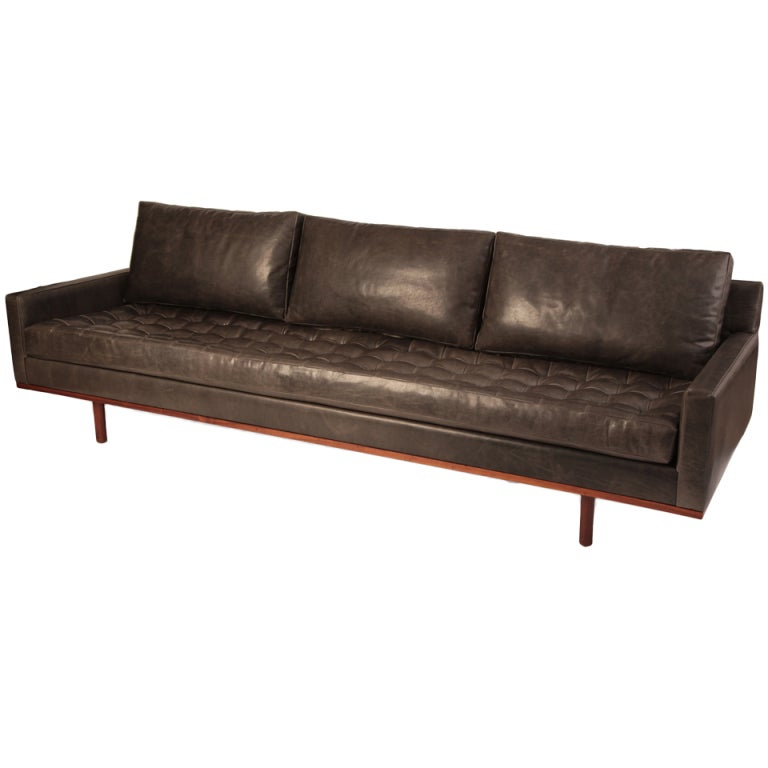 Stunning Down Filled Leather And Teak Sofa At 1Stdibs Throughout Down Filled Sofas (View 13 of 15)
