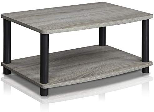 Table For Ottoman? Furinno 13191Gyw/Bk Turn N Tube 2 Tier For 2018 Tv Stands For Tube Tvs (View 8 of 15)