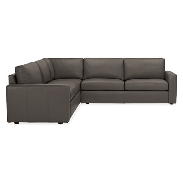 Taft Leather Sectionals – Sectionals – Living – Room Intended For Room And Board Sectional Sofas (View 3 of 15)