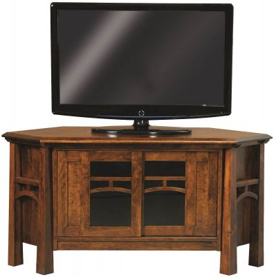 Tahoe Solid Wood Corner Tv Stand – Countryside Amish Furniture Throughout Newest Tv Stands For Corner (View 1 of 15)