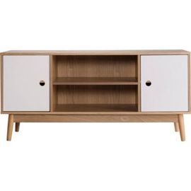 Tesco Direct: Oslo Scandanavian Style Sideboard / Tv Pertaining To Recent Fulton Oak Effect Corner Tv Stands (View 2 of 12)