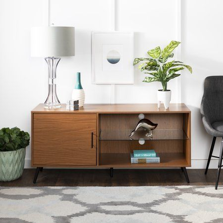 """Thea Dark Walnut Tv Stand For Tvs Up To 58""""Bellamy Pertaining To Most Popular Dark Wood Tv Stands (View 5 of 15)"""