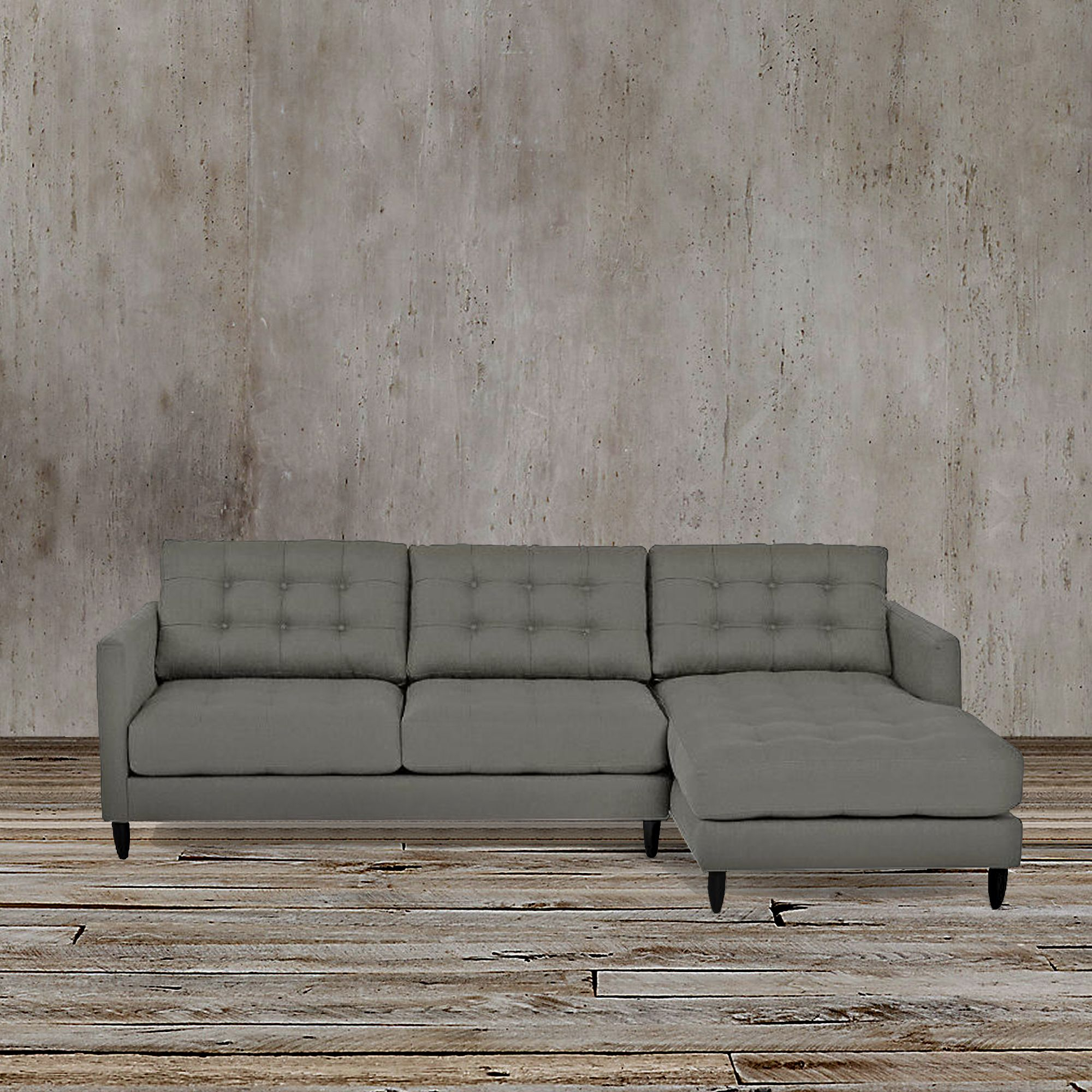 This Sleek And Functional Gray Left Arm Facing Sectional For Florence Mid Century Modern Left Sectional Sofas (View 4 of 15)