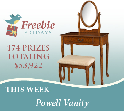 This Week'S Freebie Fridays Giveaway Is A Beautiful Vanity With Current Fulton Wide Tv Stands (View 13 of 15)