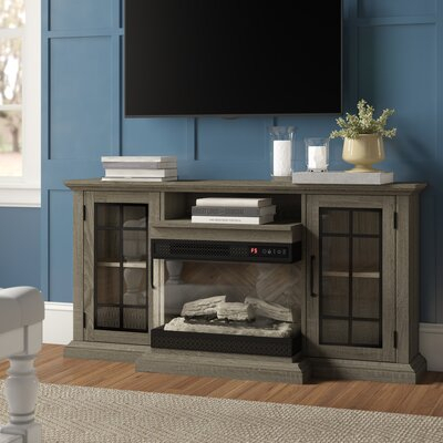 """Three Posts™ Aubriella Tv Stand For Tvs Up To 65"""" With Pertaining To Widely Used Rickard Tv Stands For Tvs Up To 65"""" With Fireplace Included (View 14 of 15)"""