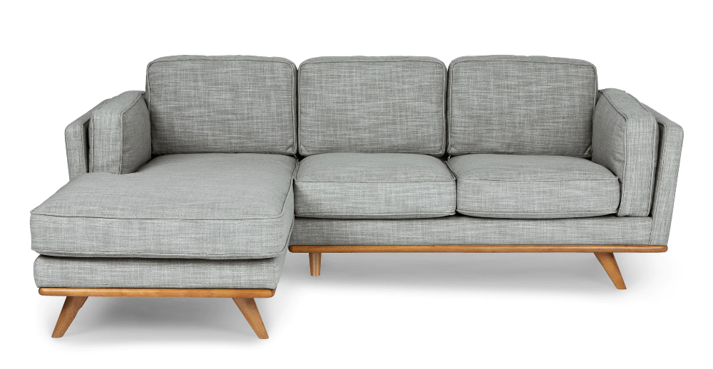 Timber Pebble Gray Left Sectional   Modern Sofa Sectional Regarding Florence Mid Century Modern Left Sectional Sofas (View 15 of 15)