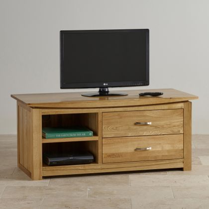 Tokyo Natural Solid Oak Large Tv Cabinet – Image 3 Within Latest Cotswold Widescreen Tv Unit Stands (View 10 of 15)